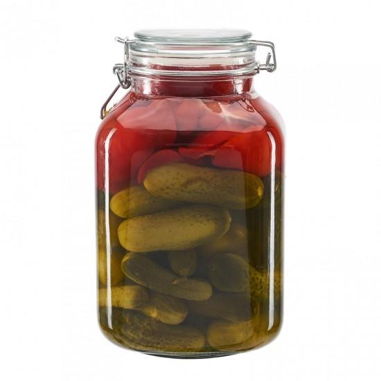 Borcan depozitare sticla cu capac, 3000 ml  ✔️