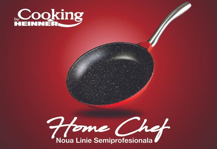 Tigaie Aluminiu Cooking By Heinner, Home Chef, 20x4 cm ✔️
